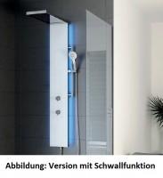 HSK Duschpaneel Lavida Plus, B: 250, H: 2220, T: 86 mm, Korpus: Edelstahl, Front: Glas weiss