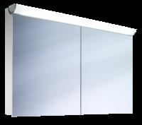 Schneider Spiegelschrank Faceline 120/2/FL, 1x54W+1x28W 1200x750x120 alueloxiert, 152.120.02.50