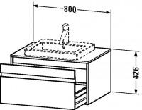 Duravit Waschtischunterschrank wandhängend Ketho T:550, B:800, H:426mm, KT6794