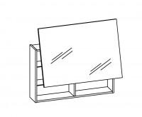 Artiqua DIMENSION 112 Lift Spiegelschrank 1 Tür B:900mm