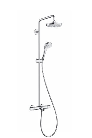 Hansgrohe Showerpipe Croma Select S 180 Wanne weiss/chrom, 27351400