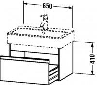 Duravit Waschtischunterschrank wandhängend Ketho T:440, B:650, H:410mm, KT6684 , Front/Korpus: weiss
