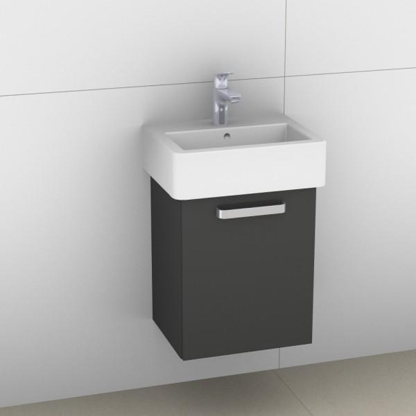 Artiqua 411 Waschtischunterschrank für Vero 070445, Anthrazit Hochglanz, 411-WUT-D22-L-7015-51