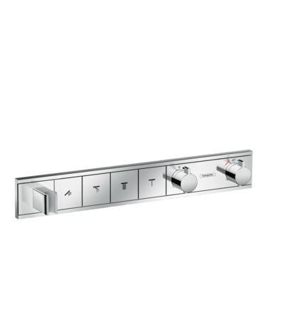 Hansgrohe Thermostat Unterputz RainSelect Fertigset 4 Verbraucher chrom, 15357000