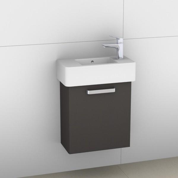 Artiqua 411 Waschtischunterschrank für Vero 070350, Stahlgrau, 411-WUT-D28-R-7142-88