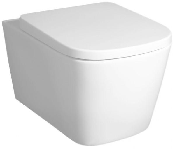 Neuesbad Premium Square Wand-Tiefspül-WC, spülrandlos, B: 365, T: 495 mm, weiss