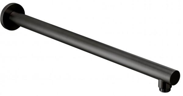 Herzbach Herzbach Living Spa iX Wandarm 450mm, rund gerade Edelstahl Black, 21.963500.2.40