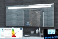 Neuesbad LED Lichtspiegel, Uhr, Schminkspiegel, Touch Schalter, B:800, H:600 mm