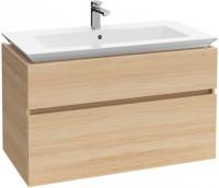 Villeroy & Boch Waschtischunterschrank Legato B291 1000x590x500mm Waschtisch mittig Oak Graphite, B2