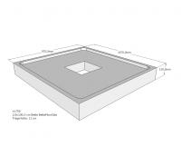 Neuesbad Wannenträger für Bette Floor 1100x1000