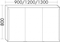 Burgbad Spiegelschrank Sys30 PG2 800x1000x180 Leinengrau Hochglanz, SPEX100F3162