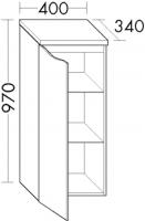 Burgbad Halbhochschrank Sinea 2.0 970x400x340 Weiß Matt, UHIB040LF2781