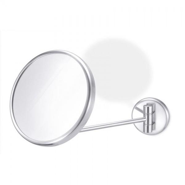 Zack FOCCIO 40 287 Kosmetik-Wandspiegel, schwenkbar, 2-fache Vergrößerung, Edelstahl gebürstet