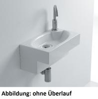 Axa one Deca Waschtisch, B: 440, T: 250, H: 200 mm, weiss, mit 1 Hahnloch, ohne Überlauf