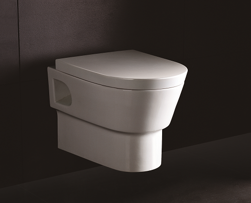 neuesbad 4000 wand tiefsp l wc weiss mit nanobeschichtung mit wc sitz mit absenkautomatik. Black Bedroom Furniture Sets. Home Design Ideas