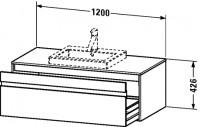 Duravit Waschtischunterschrank wandhängend Ketho T:550, B:1200, H:426mm, KT6796