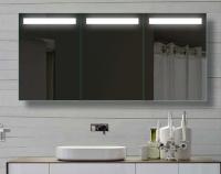 Neuesbad LED Alu Spiegelschrank, B:1500, H:700, T:120 mm