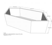 Neuesbad Wannenträger für Bette Metric 6840 206x90 6-Eck asym.