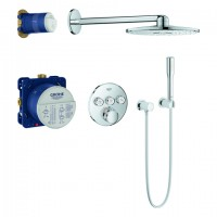 Grohe UP-Duschsys. GrohthermSmartControl runde Form 34705 mit THM/KB/HB chrom, 34705000