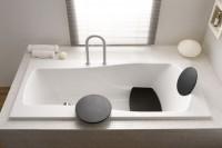Hoesch Badewanne Modula 1800x800 Überlauf links m.