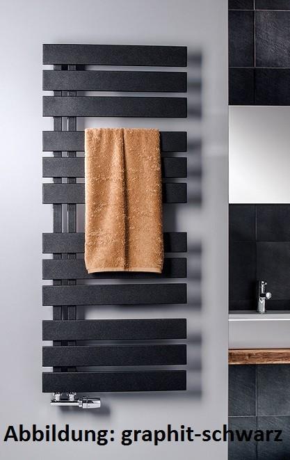 Image of HSK Badheizkörper Yenga 8750120, B: 500, H: 1200 mm, Farbe: ebony (schwarz matt) 8750120-ebony