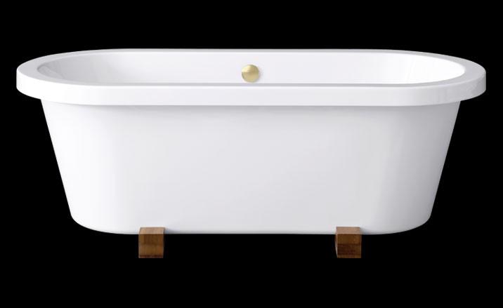 freistehende Badewanne Elegance Wood 180 x 80 cm, 0100-067-03-B/ME 0100-067-03-B/ME