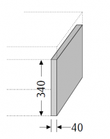 Sanipa Konsolenplatte vertikal WT38114, Pinie-Grau