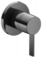 Keuco Einhebelmischer IXMO 59551, rund, Schwarzchrom poliert, 59551129501