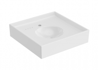Cosmic Container Global Waschbecken 55 cm, Weiss glänzend, 7550510