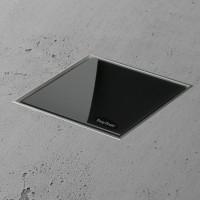 Aqua Jewels Quattro 15x15 cm Glas Schwarz matt