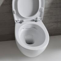 Globo Bowl Wand-WC, spülrandlos, T:550, B:380, H:355mm, SBS05BI
