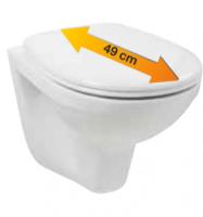 Neuesbad Wand-Tiefspül-WC, weiss, Ausladung: 49 cm, inklusive WC-Sitz mit Absenkautomatik