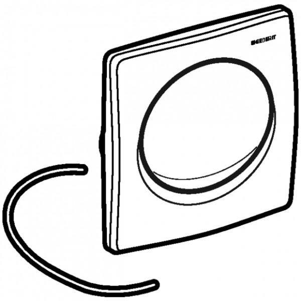 Geberit Urinal Betätigungsplatte Design Samba weiß-alpin Kunststoff pneumatisch