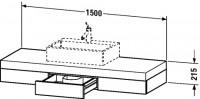 Duravit Konsole mit Schubkasten Fogo T:550, B:1500, H:215mm, FO85270