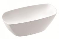Marmorin Isar Badewanne freistehende Badewanne, L: 1750 mm, B: 768 mm,  H: 638 mm, weiss glänzend