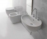 Globo Concept Waschtisch (Wandhängend oder Aufsatz), B: 680, T: 470, H: 280 mm, mit Hahnloch, weiss