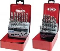 Ruko GmbH Spiralbohrersatz DIN338 Typ N D.1-10mmx0,5mm HSS-G 19tlg. Metallkassette, 214214/RUK
