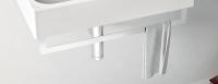 ArtCeram Block Handtuchhalter chrom, für Block Waschtisch 65 cm und 90 cm