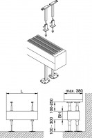 Kermi Bankträger-Set 2 Konvektor Typ 43/44/54/55, weiß, ZM00030001