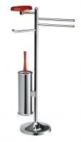 KOH-I-NOOR Koko Toilettenbürste- Handtuchhalter- Rollenhalter und Seifenschale H:70 cm 5033, chrom