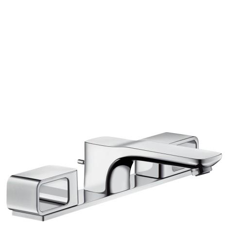 Hansgrohe 3-Loch Waschtischarmatur Axor Urquiola Standmodell chrom mit Platte, 11040000