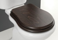 Axa one Contea Holz WC-Sitz mit Absenkautomatik, Scharniere: chrom