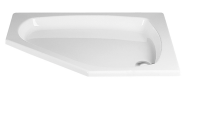 HSK Acryl Fünfeck-Duschwanne flach 90 x 90 x 10 cm, ohne Schürze