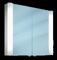 Schneider Spiegelschrank Splashline 80/2/FL, 2x14W+1x14W 800x690x120 alueloxiert, 103.080.02.50