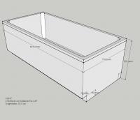 Neuesbad Wannenträger für Kaldewei PURO Nr.691 170x80 Abl.Fußende