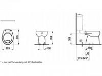 Laufen Stand-Flachspül-WC Florakids Abg., senkrecht, weiß, 8220370000271 weiss mit LCC