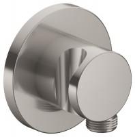 Keuco Schlauchanschluss IXMO 59592, mit Brausehalter, rund, Nickel gebürstet, 59592050001