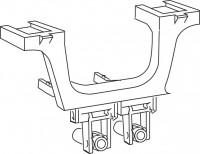 Mepa Umlenkarm für Betätigung, Eck-Spülkasten Typ E11/E21, 590985