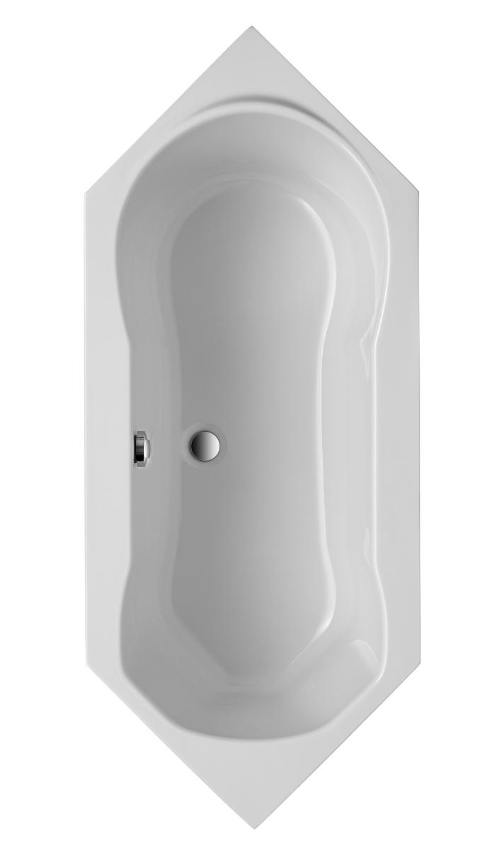 Acryl Sechseck-Badewanne Ravenna 1900x800 mm, weiß