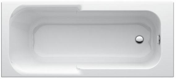 Körperform-Badewanne Playa 1600mm weiss T962501